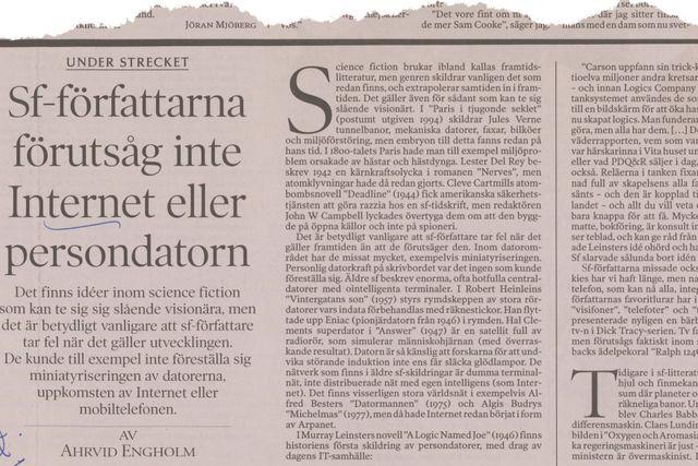 Denna artikel var införd i SvD den 4 januari 1998.
