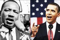 Martin Luther King och Barack Obama.