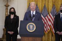 USA:s president Joe Biden talade efter kritiken.