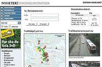 En avancerad trafikinformation är en av nya tjänster på SvD.se.