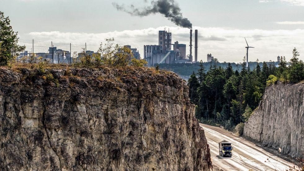 Cementas anläggning i Slite på Gotland