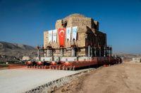 Det gamla turkiska badhuset Artuklu Hamam har flyttats.