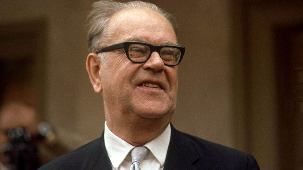 Tage Erlander i oktober 1969.
