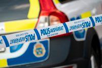 Mannen greps efter en spaningsinsats den 28 oktober i Stockholmsområdet. Arkivbild.