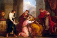 Vergilius läser Aedeiden för Augustus och Octavia.