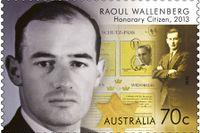 Raoul Wallenberg hedrad med frimärke - i Australien.