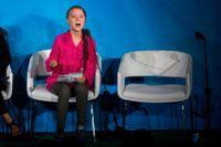 Greta Thunberg skäller ut sina åhörare under stark sinnesrörelse under sitt tal på FN:s klimatkonferens tidigare i år.