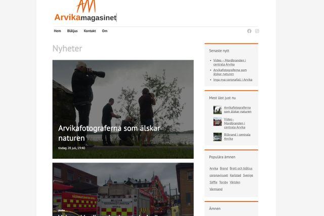 På arvikamagasinet.com kan du följa Sakeus nyhetsflöde. Arvikamagasinet finns också på Facebook och Instagram.
