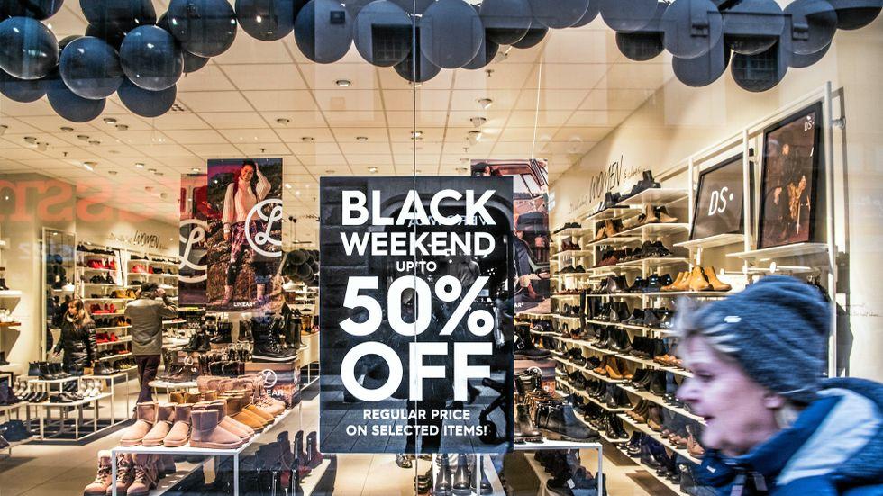 Försäljningen växte under Black Friday-rean.