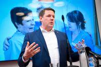 Tobias Baudin, ordförande för Kommunal. Arkivbild.