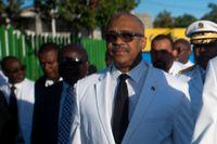 Haitis premiärminister Jack Guy Lafontant avgår efter protester i landet. Arkivbild från oktober 2017.