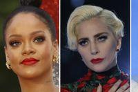Artisterna Rihanna, Lady Gaga och Pink har alla lyckats ta sig in på listan.