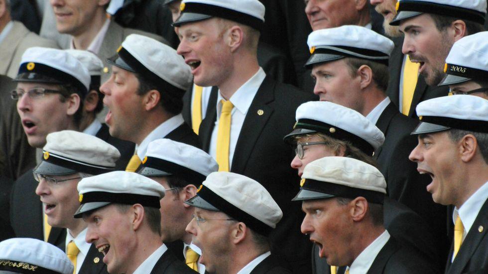 "Lunds studentsångare brukar ha ""Vintern rasat"" på repertoaren."