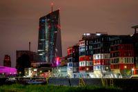 Europeiska centralbankens kontorsbyggnad i Frankfurt. Arkivbild.