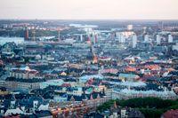 Flygbild över Stockholm.