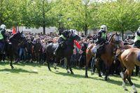 Motdemonstrationen i Malmö mot Svenskarnas parti.