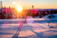 Nu blir det ljusare i allt snabbare takt, mest ökar dagarnas längd i Norrland. Arkivbild.