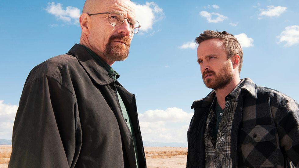 Walter White (Bryan Cranston) och kollegan Jesse Pinkman (Aaron Paul).