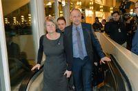 Ulla Andersson och Jonas Sjöstedt, båda från Vänsterpartiet. Foto: Tomas Oneobrg