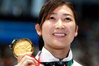 Rikako Ikee drabbades i fjol av leukemi men närmar sig nu comeback i simbassängen. Arkivbild.