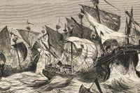 Danska flottan attackerar Hansaflottan vid Straalsund 1428.