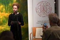 Kulturminister Amanda Lind (MP) vid prisutdelningen av Tucholskypriset.