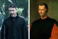 """George RR Martin hade förmodligen (nidbilden av) Niccolò Machiavelli i tankarna när han skapade """"Game of thrones""""-figuren Littlefinger (Aidan Gillen)."""
