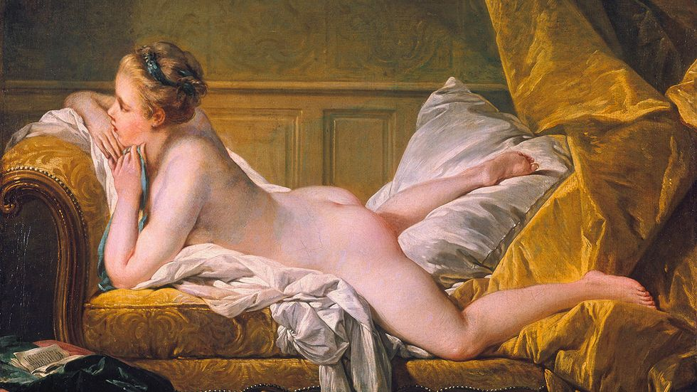"""""""Vilande flicka""""  av François Boucher, 1751."""
