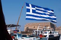 Hamnen i Heraklion på den grekiska ön Kreta – som skakats av ett jordskalv.