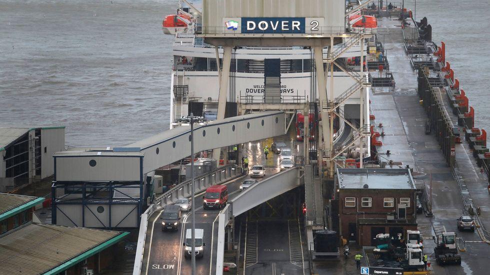 Hamnen i Dover.