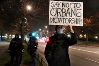 Alla mot Orbán, så vill Ungerns opposition att valet 2022 ska se ut. På bilden en protest mot premiärministerns politik i november.