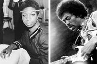 Nina Simone och Jimi Hendrix.