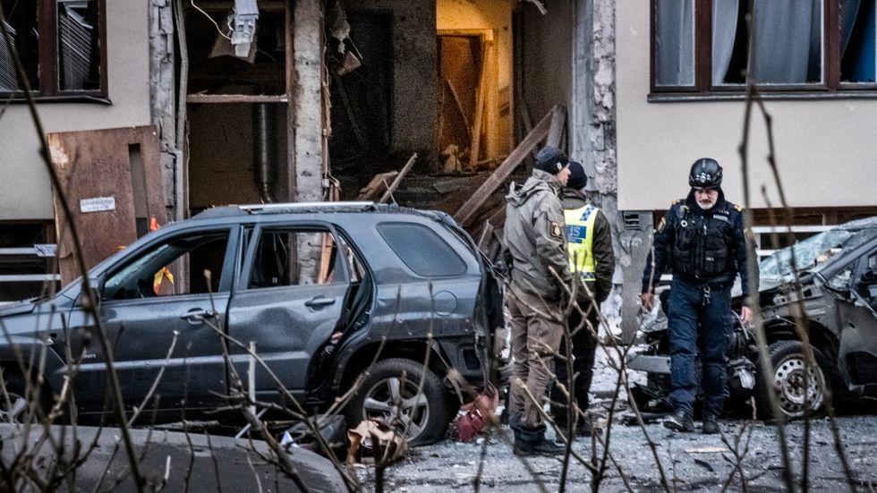 Första sprängdådet 2020 inträffade på Östermalm i Stockholm. Det är inte klart var sprängmedlen som användes vid explosionen kom ifrån.