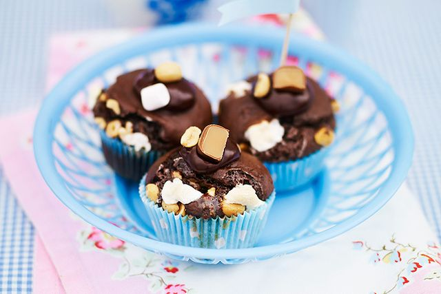 Rocky road cupcakes.