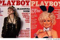 Madonna intervjuades i Playboy september 1985 och Dolly Parton gjorde detsamma oktober 1978.