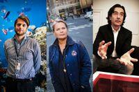 Tre framgångsrika entreprenörer väljer sina favoriter bland årets nominerade till SvD Affärsbragd. Från vänster till höger: Sebastian Siemiatkowski (Klarna), Kristina Lindhe (Lexington) och Douglas Roos (Nyheter 24).