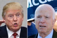 Donald Trump och John McCain.