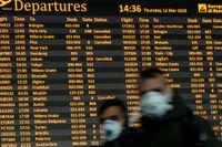 Det är fortfarande oklart hur resandet kommer att se ut när länder öppnar sina gränser och lyfter sina restriktioner efter den värsta coronakrisen är över. Bilden är tagen på flygplatsen i Rom i mitten av mars.