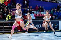 Kval på 100 meter på U23-EM i Gävle i juli.