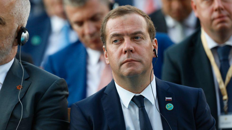Rysslands premiärminister Dmitrij Medvedev. Arkivbild.