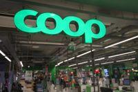 En stängd Coopbutik i Stockholm på lördagen. Arkivbild.