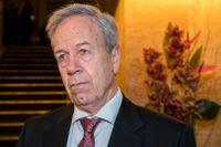 Norges centralbank, med chefen Øystein Olsen, har sänkt styrräntan med 1,25 procentenheter på en vecka. Arkivbild.