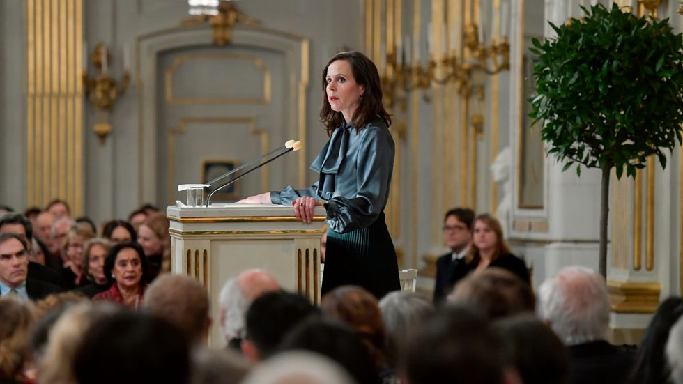 Sara Danius, Svenska Akademiens ständiga sekreterare, har kritiserats hårt och offentligt den senaste tiden. Arkivbild.
