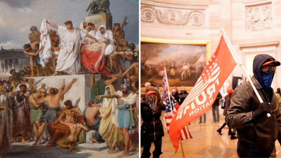 Misslyckade kuppförsök: Capitolium 44 f Kr och Kapitolium 2021.