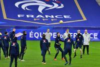 Landslagets träning på Stade de France i Paris inför Nations League-matchen mot Frankrike på tisdag.
