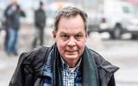 Företagsledaren Karl Hedin i Västmanlands tingsrätt i samband med förhandlingarna tidigare i år.