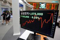 Samsung rasade på Seoul-börsen på tisdagen. Vid stängning hade kursen dykt cirka 8 procent.