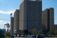 Ett av fastighetsjätten Evergrandes många bostadshus i Kina. Bilden är tagen i Peking. Arkivbild.