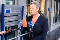 Ylva Johansson, EU:s kommissionär i flyktingfrågor.