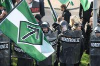 Bild från nazistdemonstrationen den 30 september.